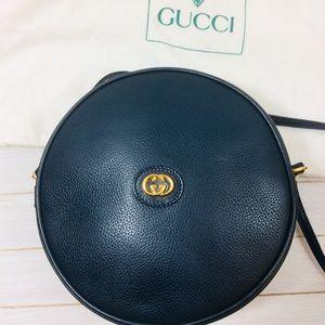 Gucci Round Canteen GG Crossbody Bag